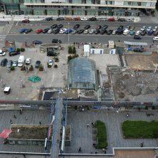 Střešní parkoviště a pochozí plochy OC Budějovická