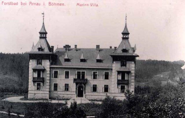 Vila Maria, Lázně Fořt, dobová fotografie