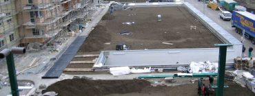 Zelená střecha s dvojitou asfaltovou hydroizolací